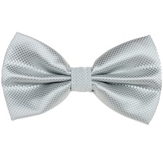 Light Grey Satin Bow Tie and Pocket Square