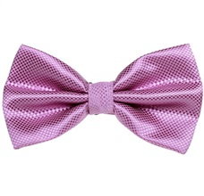 Lilac Satin Bow Tie and Pocket Square
