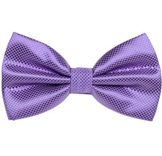 Purple Satin Bow Tie and Pocket Square