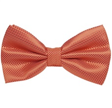 Orange Satin Bow Tie and Pocket Square
