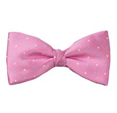 Pink Bow Tie and Pocket Square with Dots