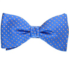 Royal Blue and Orange Bow Tie and Pocket Square