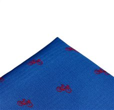 Royal Blue Pocket Square with Bicycles