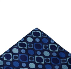 Dark Blue Squares Pocket Square