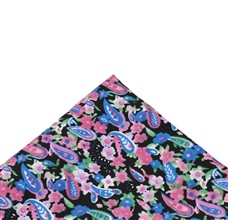 Pocket Square with Flowers and Paisley