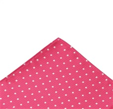 Pink Pocket Square with White Dots