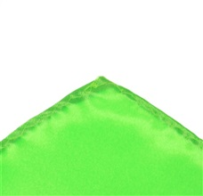 Green Fluororescent Pocket Square