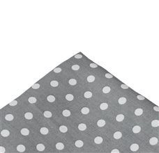 Grey Pocket Square with Dots