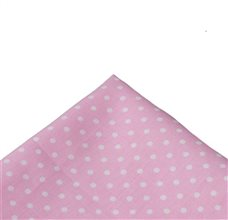 Pink Pocket Square with Dots