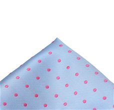 Blue Sky Pocket Square with Dots