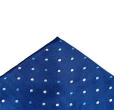 Royal Blue Pocket Square with Dots