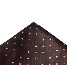 Brown Pocket Square with Dots