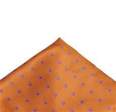 Orange Pocket Square with Dots