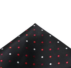 Black Pocket Square with Dots