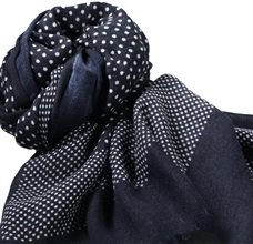 Blue and Grey Dots Pashmina