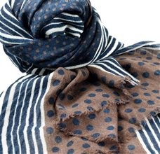 Blue and Brown Dots Pashmina