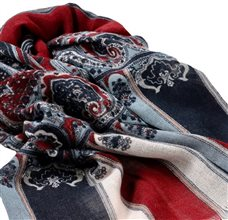 Paisley and Stripes Pashmina
