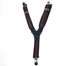 Boy's Deep Blue Elastic Braces with Spikes