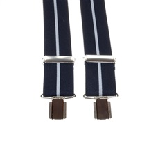 Navy Blue and Grey Elastic Braces