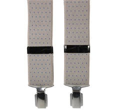 Beige with Blue Dots Elastic Braces