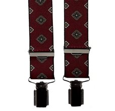 Burgundy Elastic Braces with Florence Design