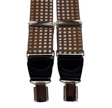 Brown Squares Pattern Elastic Braces