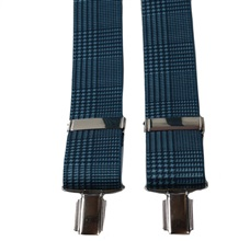 Blue Checked Elastic Braces