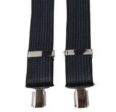 Charcoal Grey Checked Elastic Braces