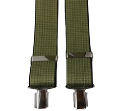 Green Checked Elastic Braces