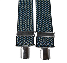 Blue Pattern Elastic Braces