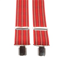 Red Tartan Plaid Elastic Braces