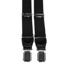 Black Skinny Elastic Braces