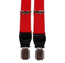 Red Skinny Elastic Braces