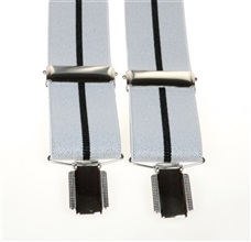 Grey with Black Stripe Elastic Braces