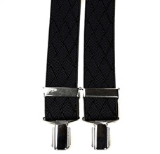 Charcoal Grey Rhombus Elastic Braces