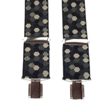 Balck and Beige Hexagon Patterned Elastic Braces
