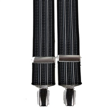 Black Stripes Elastic Braces
