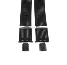 Black and White Dots Elastic Braces
