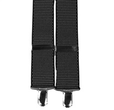 Black with White Dots Elastic Braces