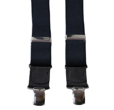 Boy's Dark Blue Elastic Braces Leather