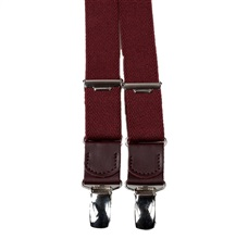Boy's Bordeaux Elastic Braces Leather
