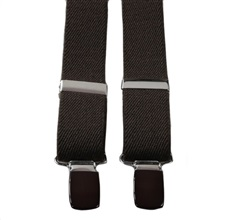 Boy's Dark Brown Elastic Braces