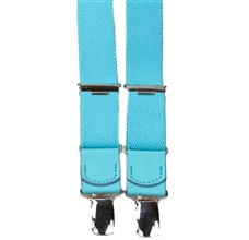 Boy's Turquoise Elastic Braces Leather