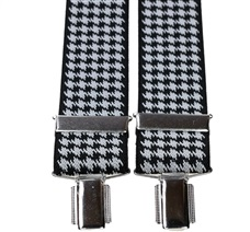 Black and White 'Crows Feet' Elastic Braces