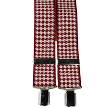 "Burgundy ""Crow's Feet"" Elastic Braces"