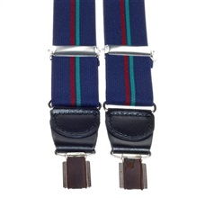 Dark Blue Striped Elastic Braces