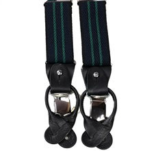 Navy Blue with Green Stripes Elastic Braces