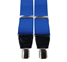 Royal Blue with White Dots Elastic Braces