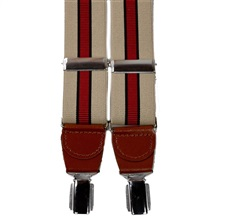 Beige Stripes Elastic Braces