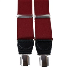 Burgundy Elastic Braces